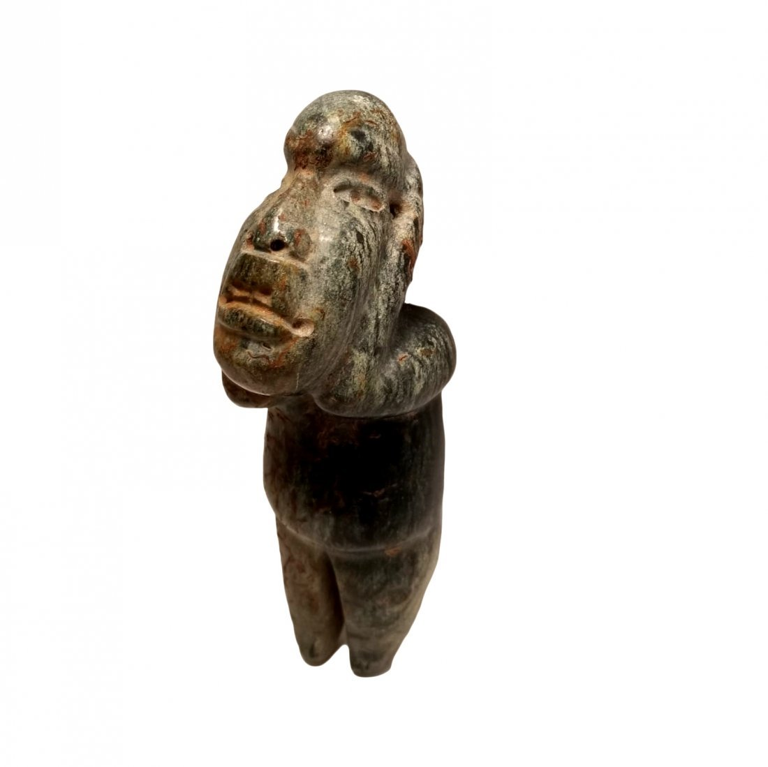 Pre-Columbian Olmec Serpentine Figure - 3