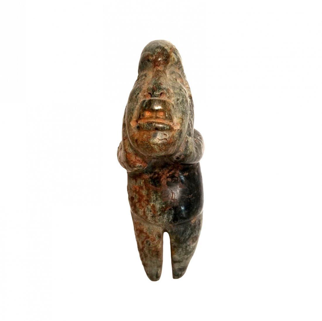 Pre-Columbian Olmec Serpentine Figure - 4