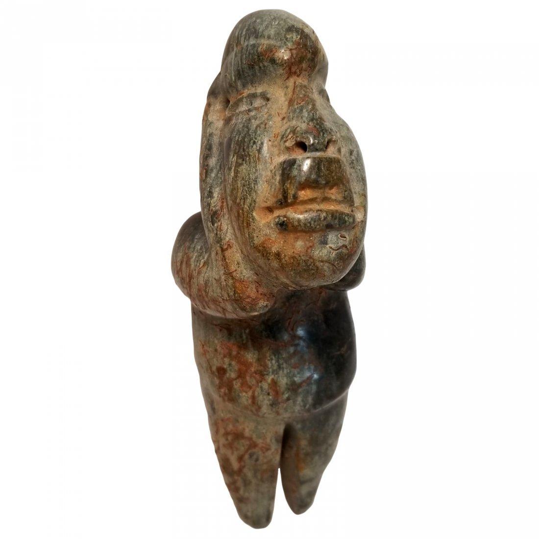 Pre-Columbian Olmec Serpentine Figure - 5
