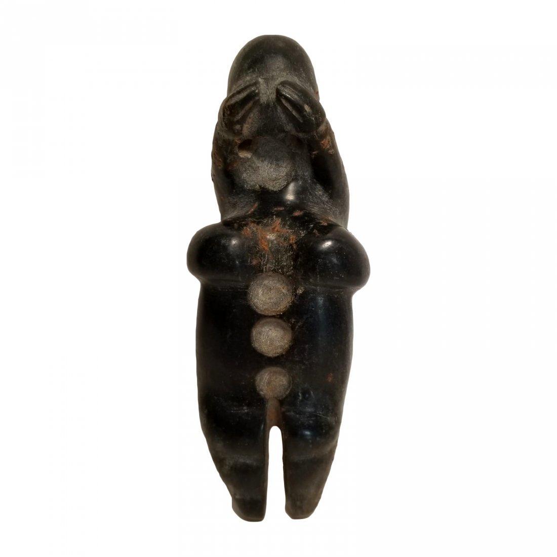Pre-Columbian Olmec Serpentine Figure - 6