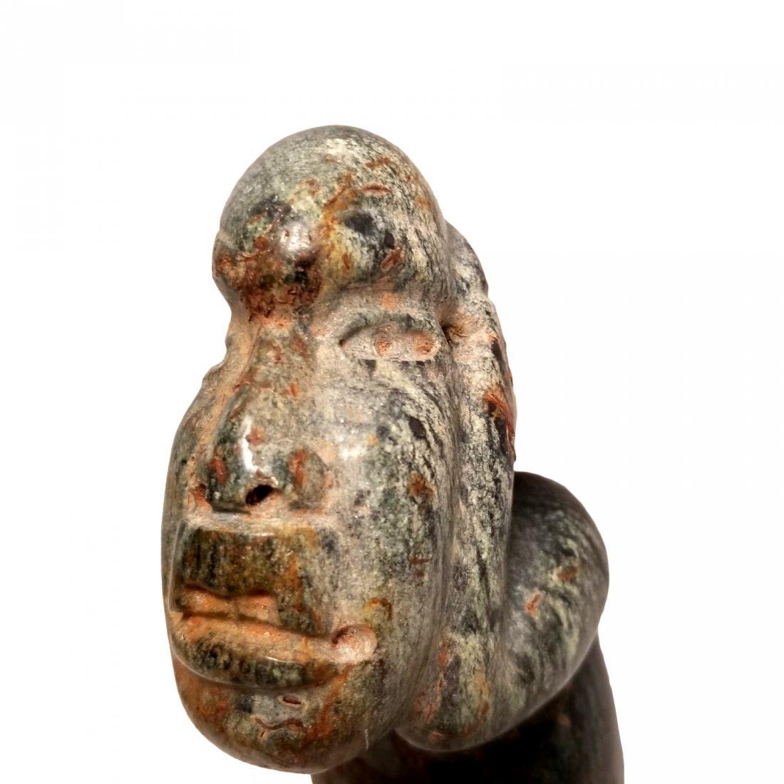 Pre-Columbian Olmec Serpentine Figure - 7