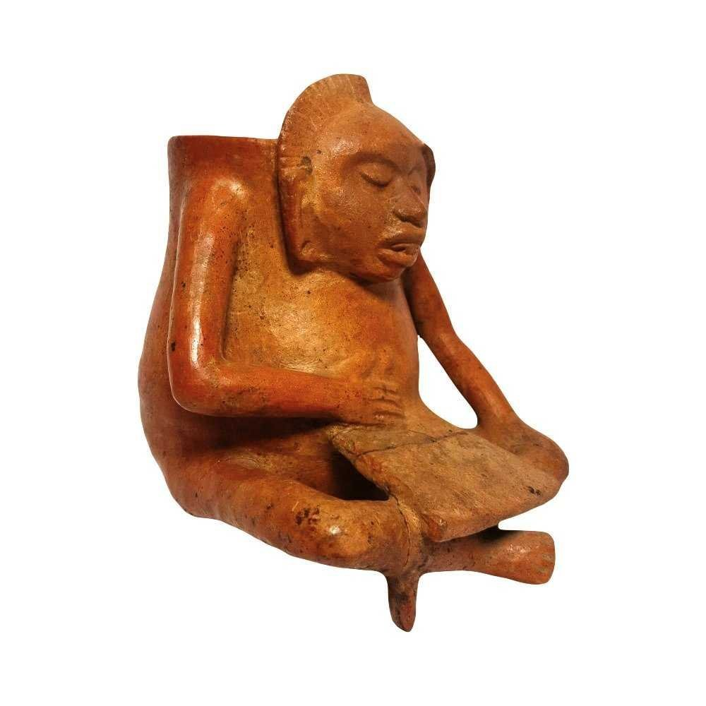 Pre-Columbian Maya Seated Figure Vessel - 2