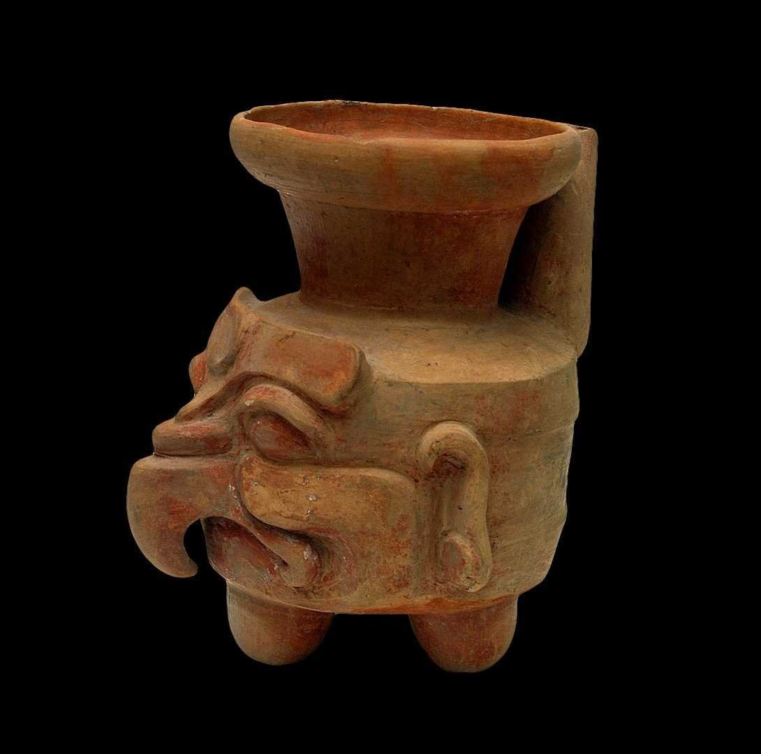 Pre-Columbian Maya Spouted Vessel
