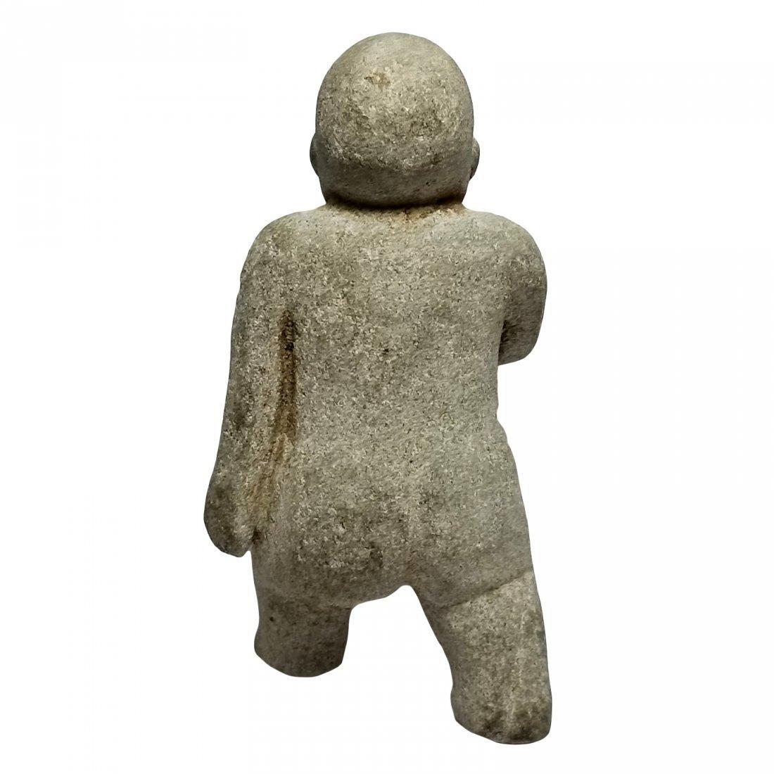 Pre-Columbian Olmec Stone Figure - 3