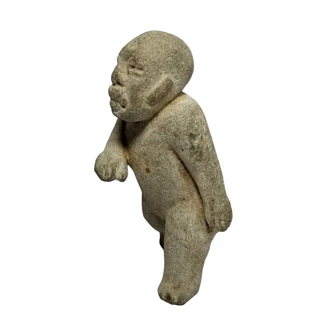 Pre-Columbian Olmec Stone Figure - 4