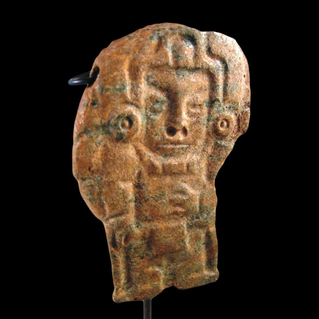 Scarce Pre-columbian Maya Plaque w/ DANCING MAIZE LORD