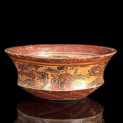 A fine Pre-columbian Maya Copador Bowl