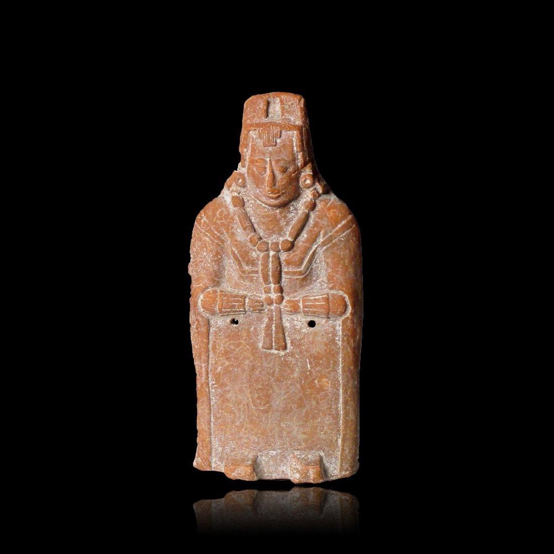 Pre-columbian Maya Jaina Rattle Figure