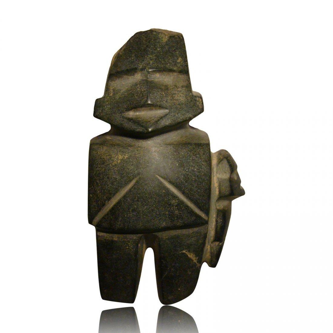 Pre-columbian Mezcala Figure with Child