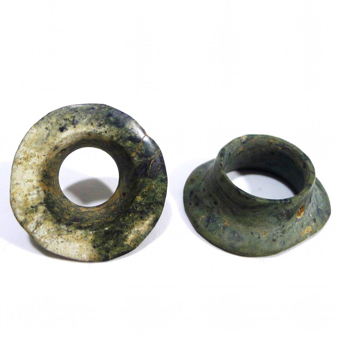 Pre-columbian Mezcala Earspools
