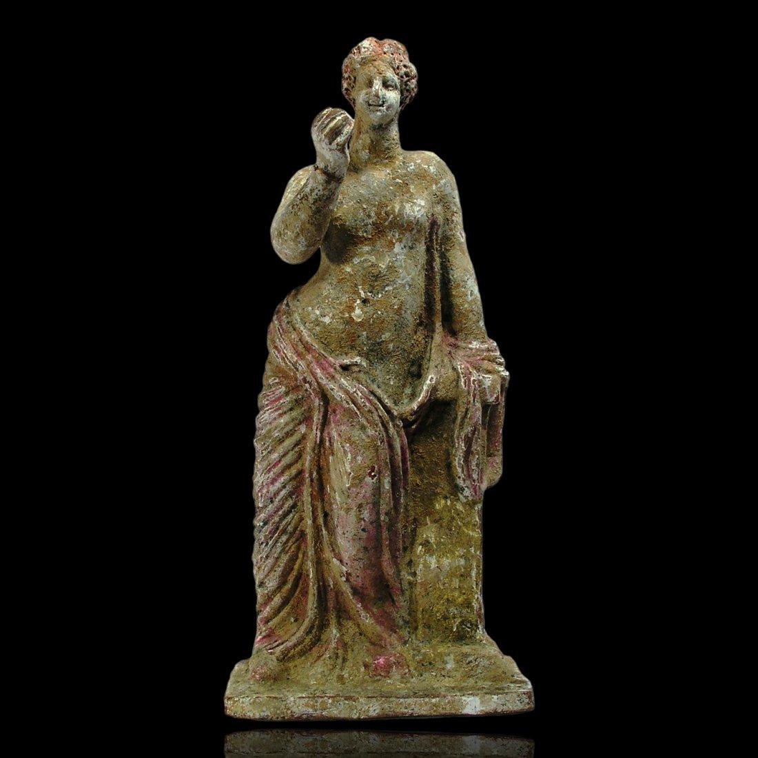 Ancient Greek Tanagra Statue
