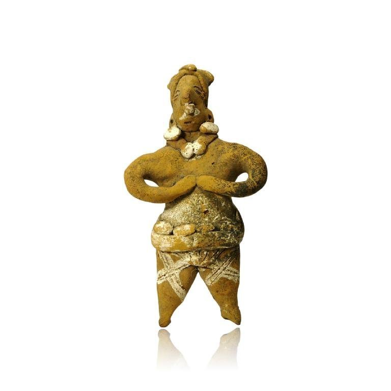Painted Pre-columbian Colima Figure