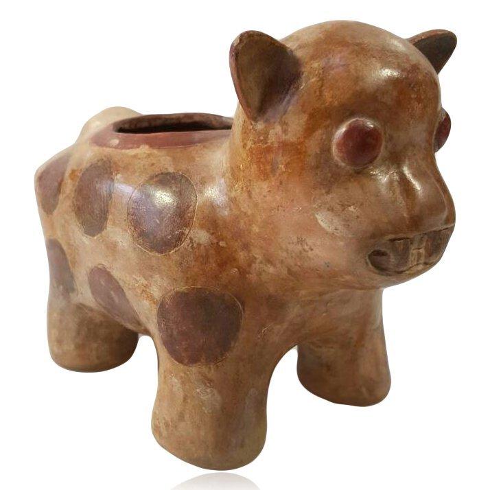 Pre-columbian Chorrera Jaguar Vessel