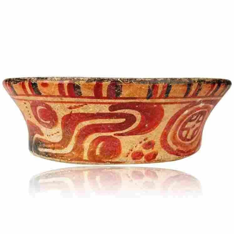 Pre-columbian Maya Painted Bowl