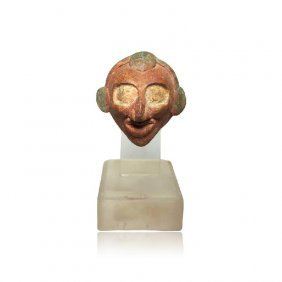 Rare Maya Pauahtun Head Rattle - Ex. Sotheby's