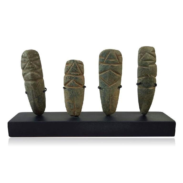 Group of 4 Pre-columbian Maya Camawillies
