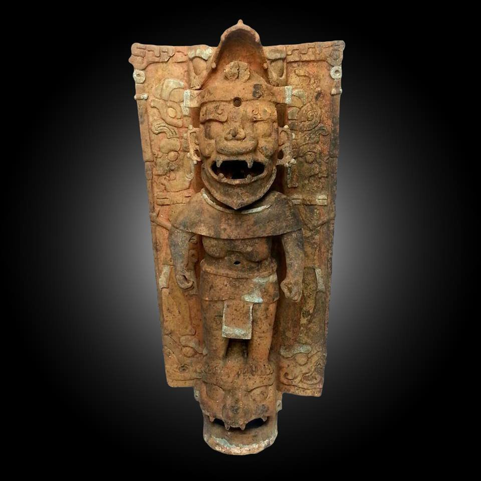 Important Pre-columbian Maya Palenque Censer Stand