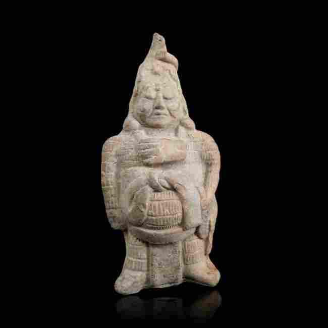 Pre-columbian Maya Whistle Figure