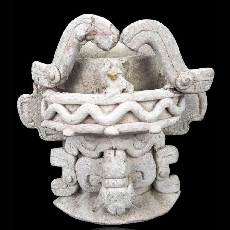 Pre-columbian Zapotec Pottery Cocijo Urn