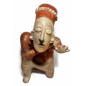 Fine Pre-columbian Jalisco Kneeling Figure