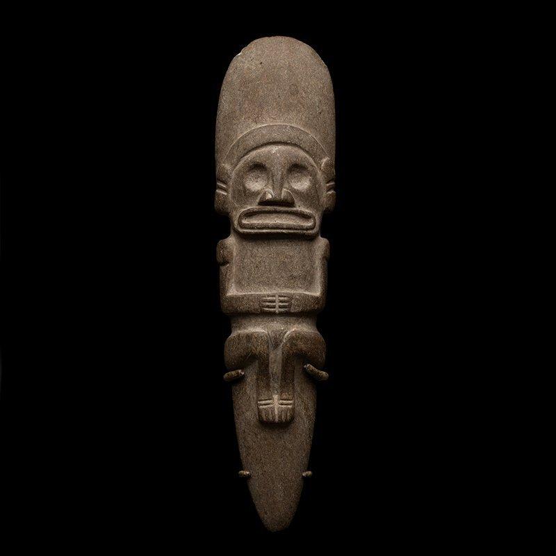 Pre-columbian Taino Stone Anthropomorphic Celt