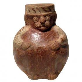 Pre-columbian Moche Fine-line Figure