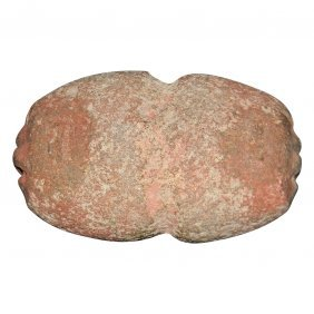 Pre-columbian Olmec Stone Mace Head