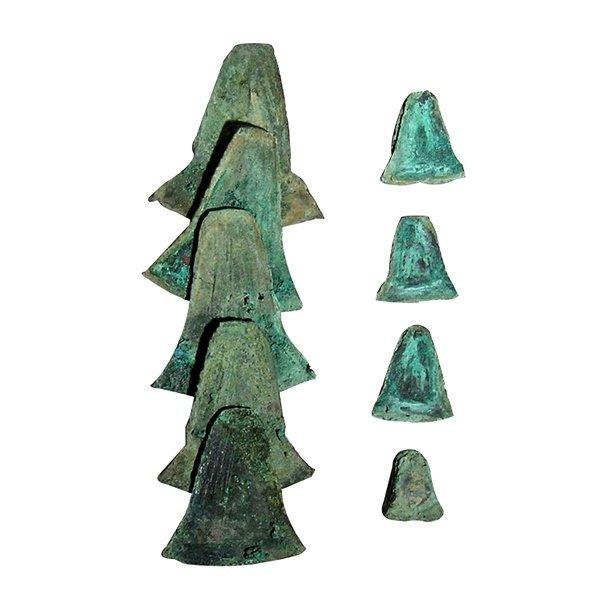 12 Pre-columbian Inca Copper Trade Tools