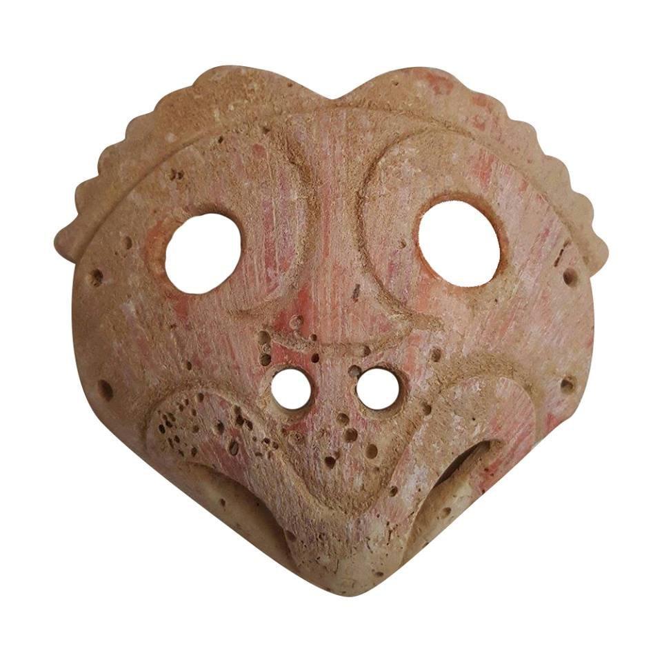 Rare Pre-columbian Mixtec Shell Bird Pendant