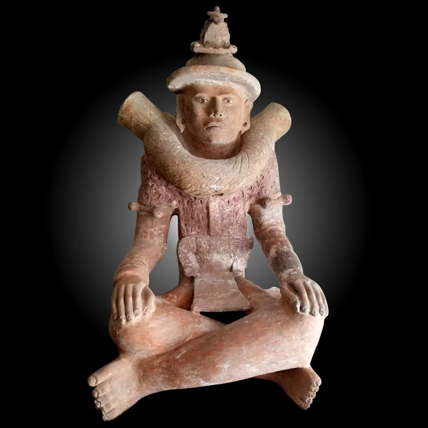 Monumental Pre-columbian Veracruz Seated Incensario