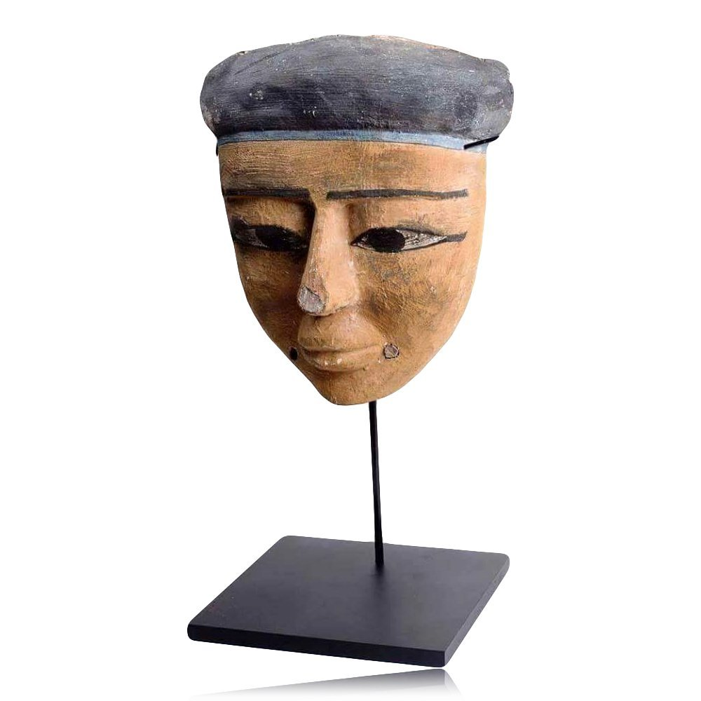 Large Ancient Egyptian Wooden Mummy Mask