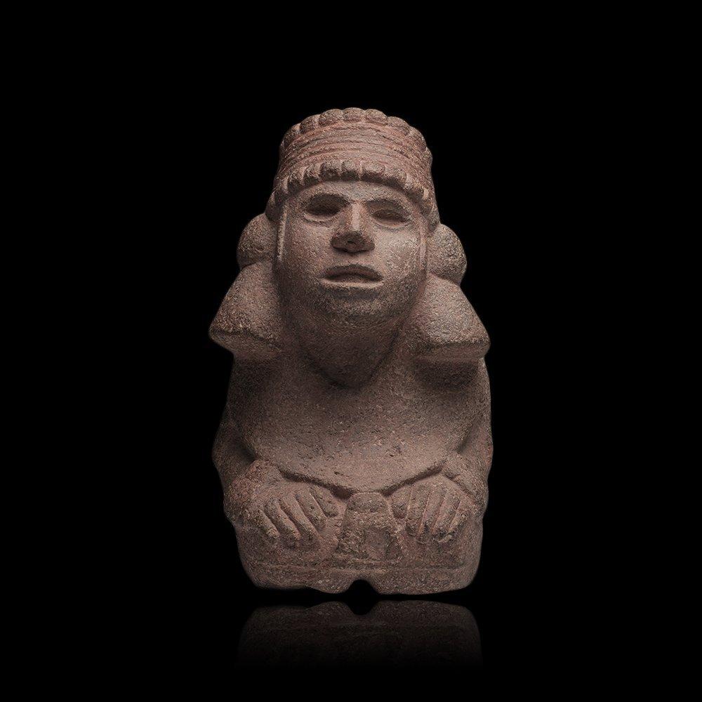 Important Pre-columbian Aztec Stone Goddess Figure