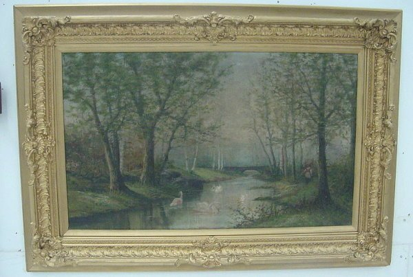 18: Fine Painting of River Scene