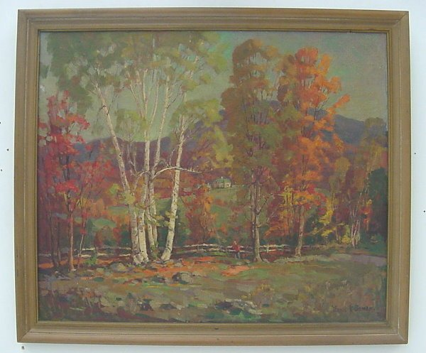 24: Oil on Canvas Landscape, signed James K. Bonnar