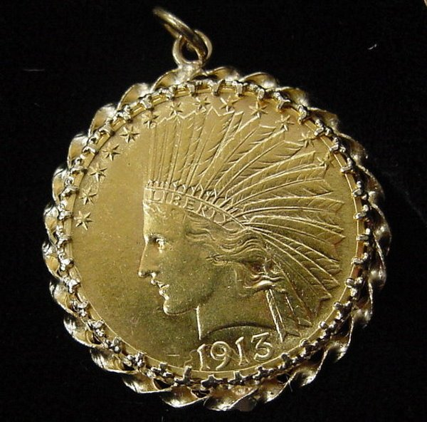 26: Gold Indian Head Coin, $10.00