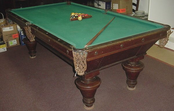 46: Antique Pool Table