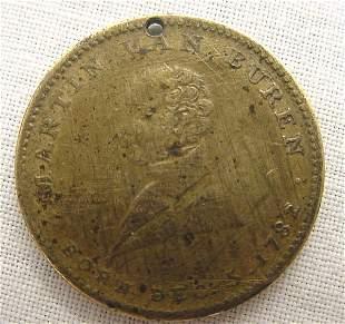 Martin Van Buren Campaign Token, 1840 – Front, Bust