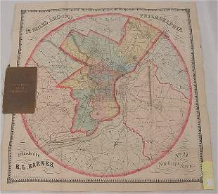 "Map – ""Twelve Miles Around Philadelphia"" Published b"