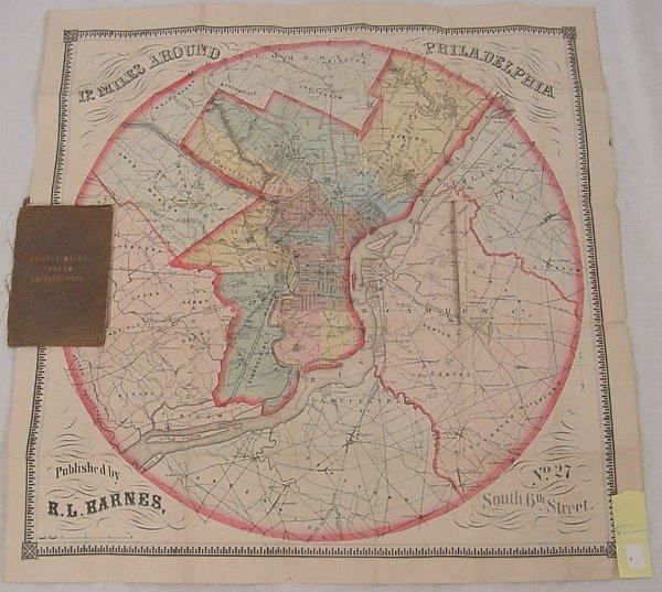 "8: Map – ""Twelve Miles Around Philadelphia"" Published b"