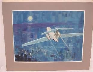 "Original Art (image 19 ½"" x 14 ½"") – Small Passenger"