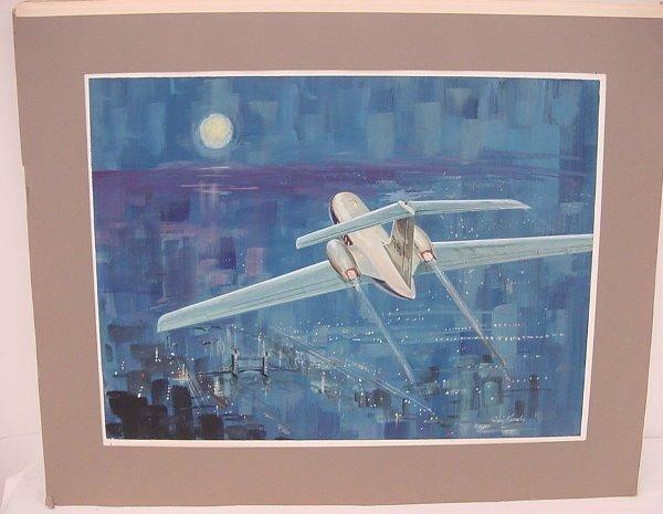 "9: Original Art (image 19 ½"" x 14 ½"") – Small Passenger"