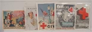 "Five Red Cross Posters – ""Through American Junior R"
