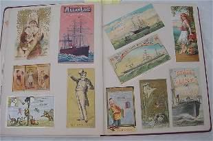 Victorian Trade Card Album – Pristine – 400+ pieces