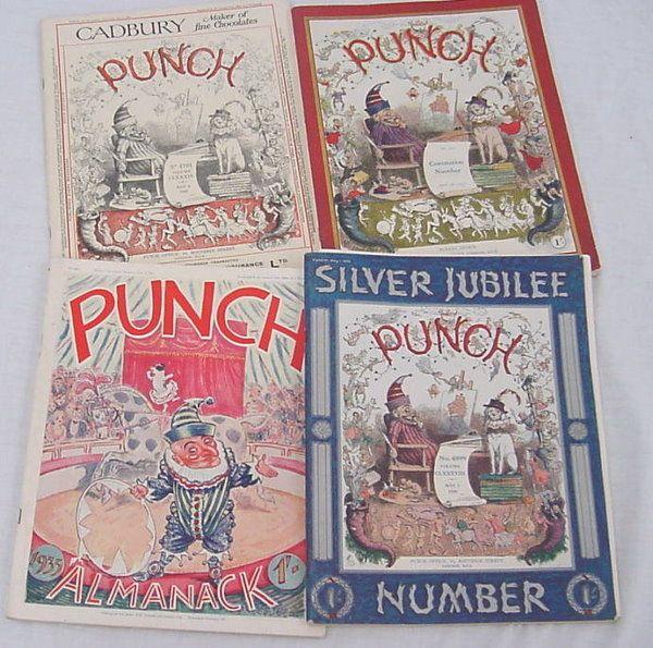 "(400+) ""punch"" (English) Humor magazines, color pla"