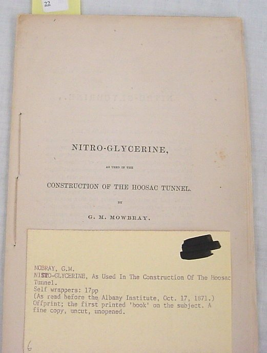 """22: Mobray, G.M. – """"Nitro-Glycerine as Used in the Cons"""