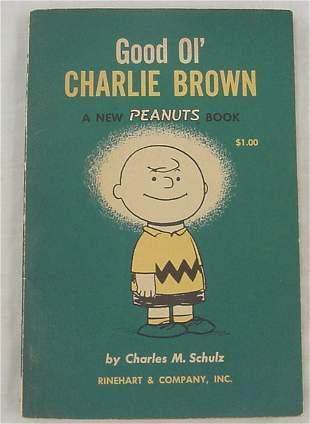 "Book, ""Good Old Charlie Brown"", paperback w/hand-dr"