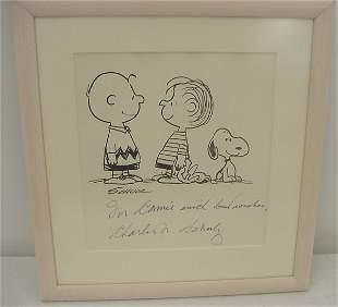 Art, Original artwork of Charles Schultz of Peanuts