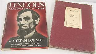 "Book, ""Linclon"", Steton Lorant, Author's Ed. W/ cas"