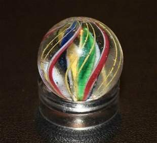 Antique Caged German Handmade Swirl Marble Divided Core