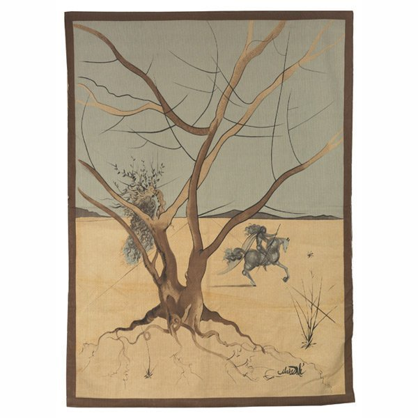 "Salvador Dali Tapestry ""Asher"" Twelve Tribes of Israel"